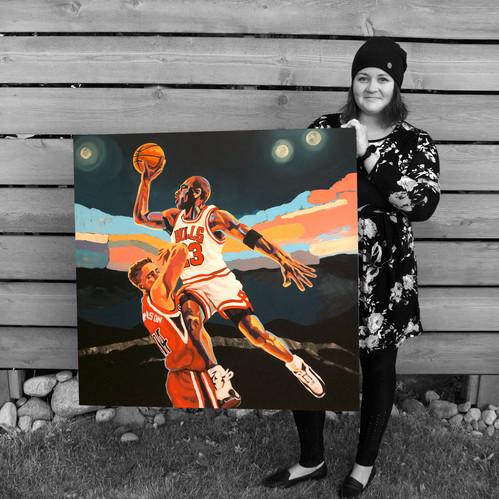"""Acrylics on Canvas, 36"""" x 36"""", 2020"""