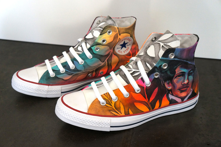 """""""Color Theory"""" Custom Painted Converse Shoes"""