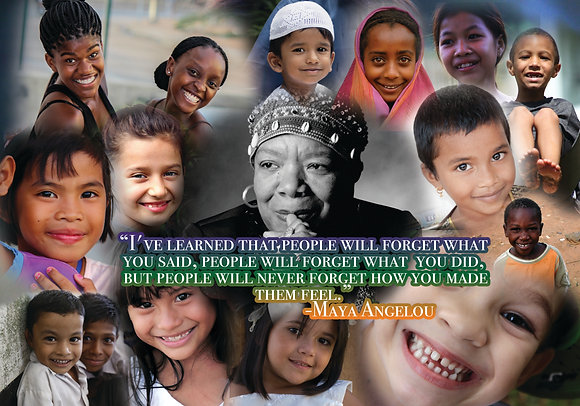 Maya Angelou Collage Posters - 012