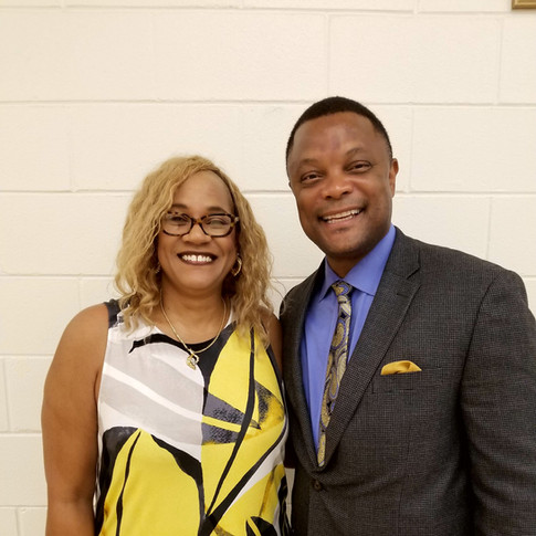 Halifax County Superintendent and Linda Shanklin