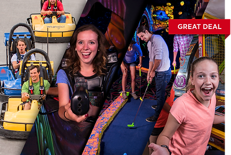 Pick 5 activities, go-karts, laser tag, blacklight mini-golf, arcade LazerPort Fun Center Pigeon Forge