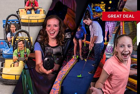 Pick 5 activities, go-karts, laser tag, blacklight mini-golf, arcade LazerPort Fun Center Pigeon Forge