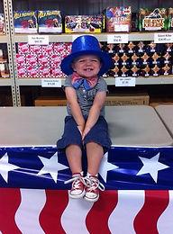 Cute kid on 4th of July