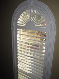 Window with fan arch 3.5 louver with invisable tilt