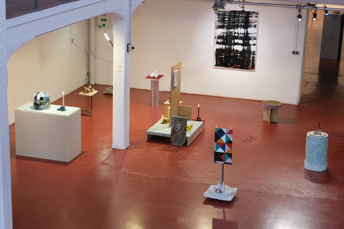 Installation view at 'Portraits#1' in Lavalleé, Brussels