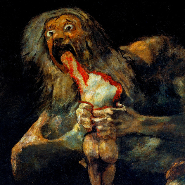 Saturn eats one of his sons by Francisco de Goya