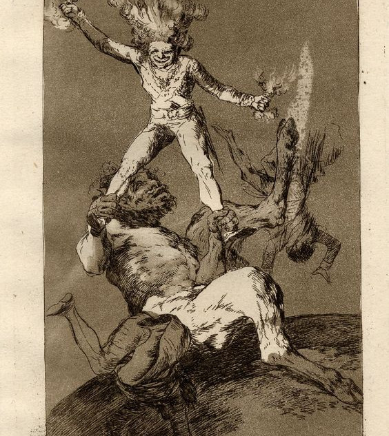 """""""To rise and to fall"""" by Franciso de Goya"""