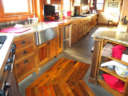 kitchen floor inlay