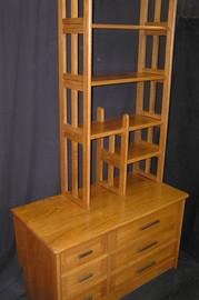 dresser w bookshelves