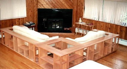 1/4d red oak couch surround