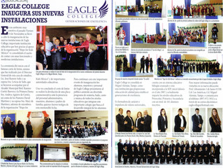 Eagle College Featured in Eskaparate, a Local Miguel Aleman Publication