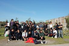 Estudiantes del Liceo Elvira Brady de San Bernardo