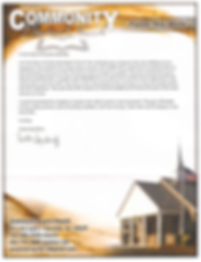 A letter from Commuity Baptist Church