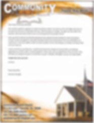 A letter to us from Community Baptist Church
