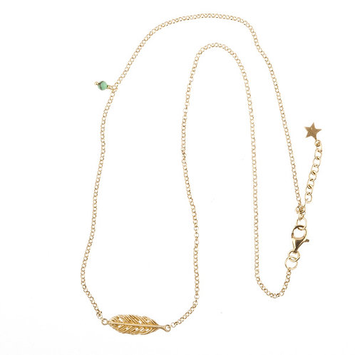 Betty Bogaers N78 G Short Feather Necklace