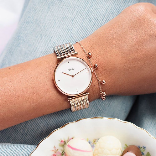CLUSE Thriomphe Rose Gold Bicolour Mesh CL61003