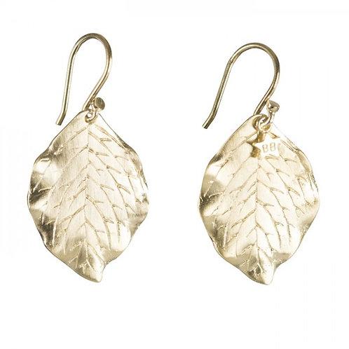 Betty Bogaers E665 Leaf Earring Gold Plated