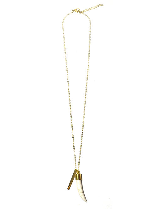 Nilu Tooth Gold Necklace