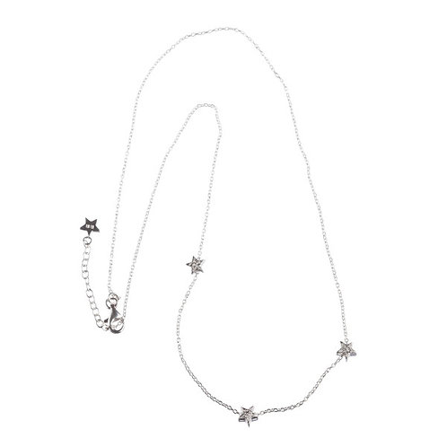 Betty Bogaers N513 S Little Three Star Necklace Silver