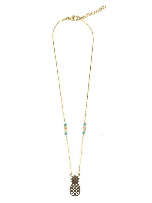 Nilu Pineapple Short Necklace