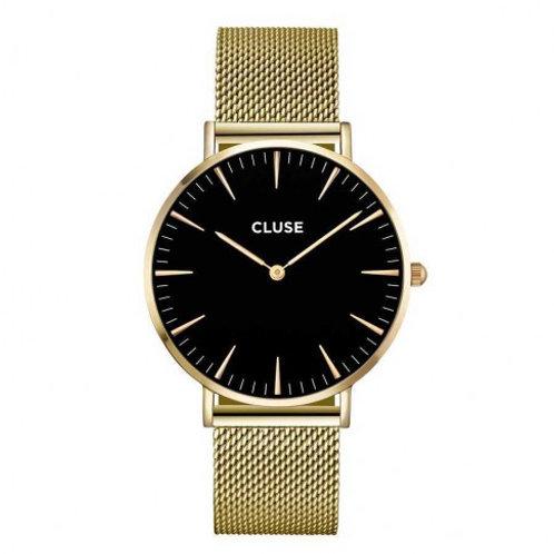 Cluse CL18110 La Bohème Mesh Gold Black