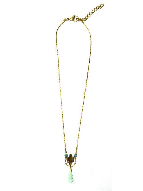 Nilu Cactus Gold Necklace