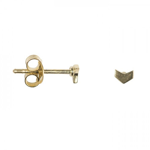 Betty Bogaers E673 Gold Plated Mini Arrow Earring Stud