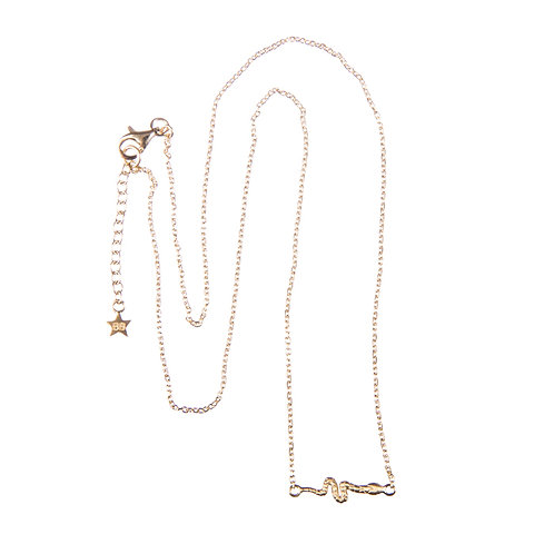 Betty Bogaers N627 Gold Snake Necklace
