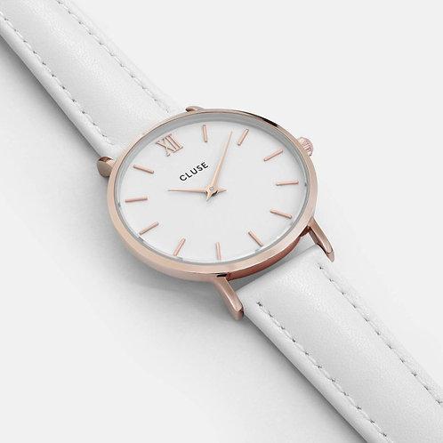 Cluse Minuit Rose Gold White/White CL30056
