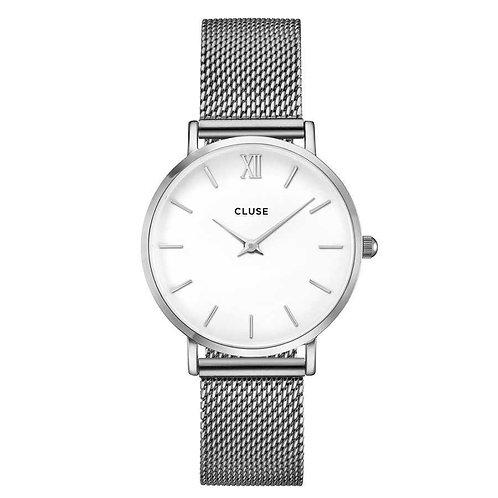 CLUSE CL30009 Minuit Mesh Silver/White