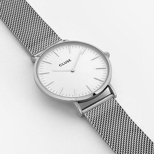 CLUSE La Bohème Mesh Silver/White CL18105
