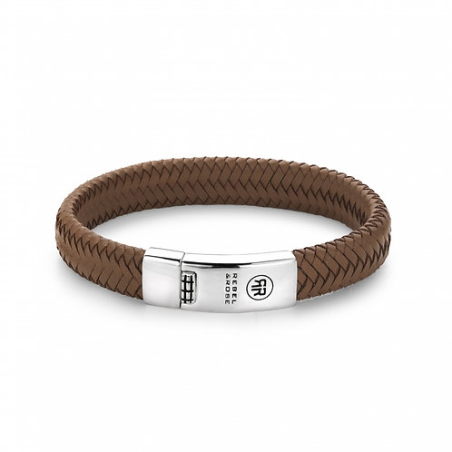Braided Oval Handsome in Khaki M(19,5cm) L0041