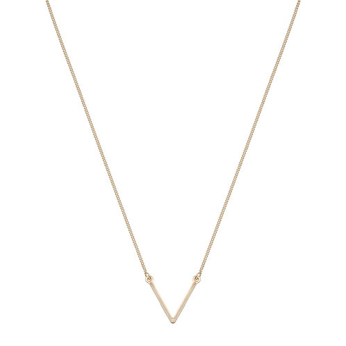 Club Manhattan Double Delicate V Gold Necklace
