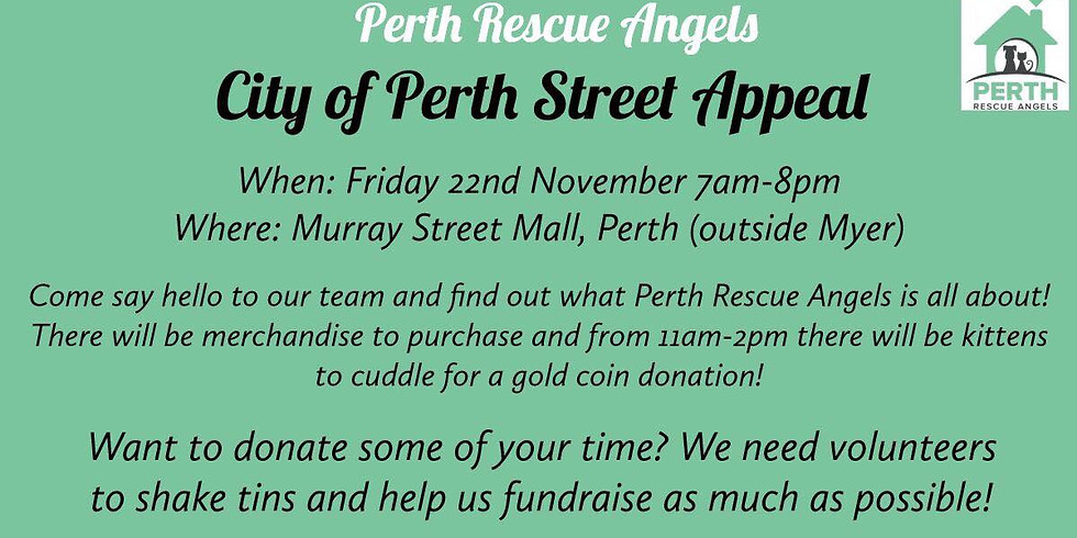 City of Perth Street Appeal   Perth Rescue Angels