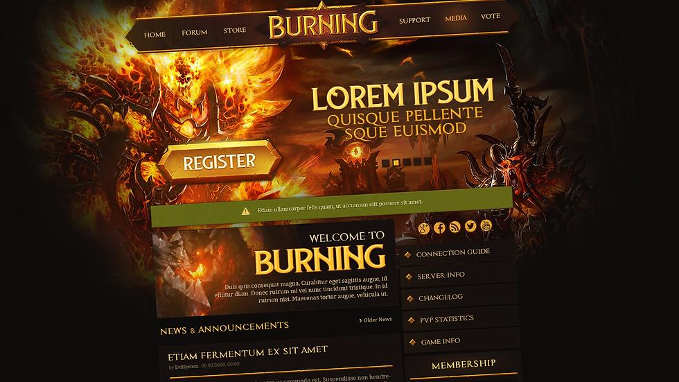 Burning Web Design