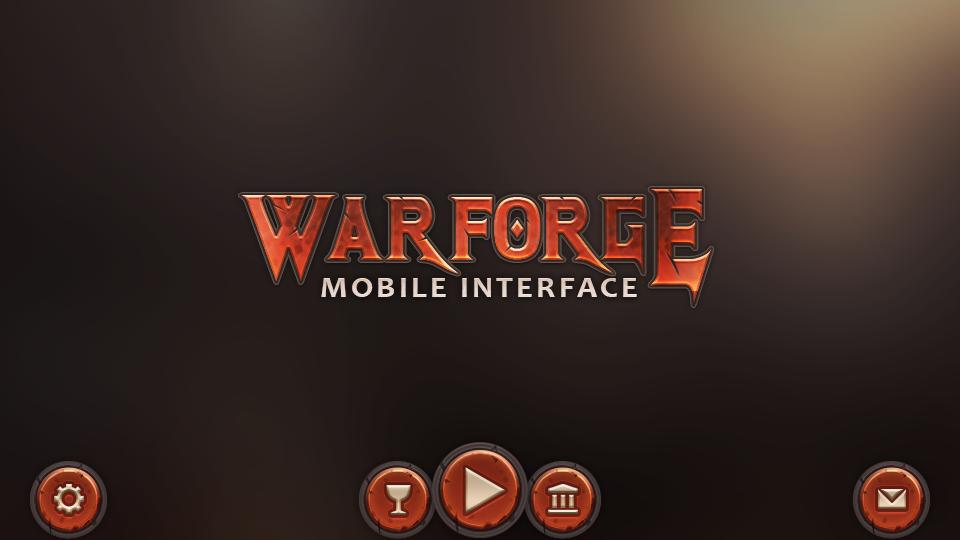 Warforge Mobile UI