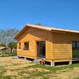 Maison sur dalle bois et plots béton