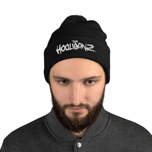 The Hooliganz Puff Embroidered Pom-Pom Beanie