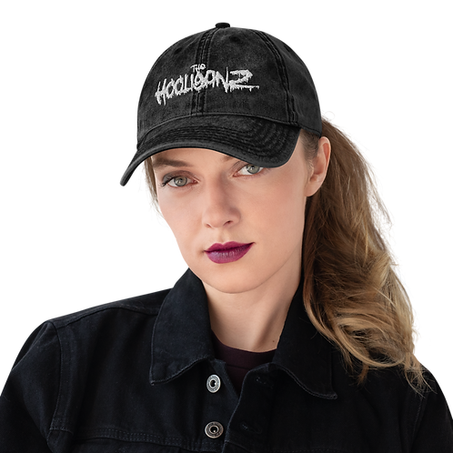 The Hooliganz Puff Embroidered Vintage Cotton Twill Cap