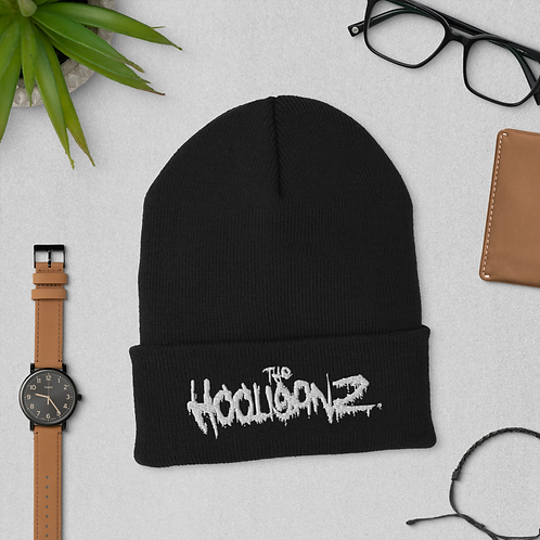 The Hooliganz Puff Embroidered Cuffed Beanie