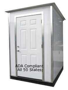 ADA compliant,  7777, lavatory, building, exterior, portable, permanent