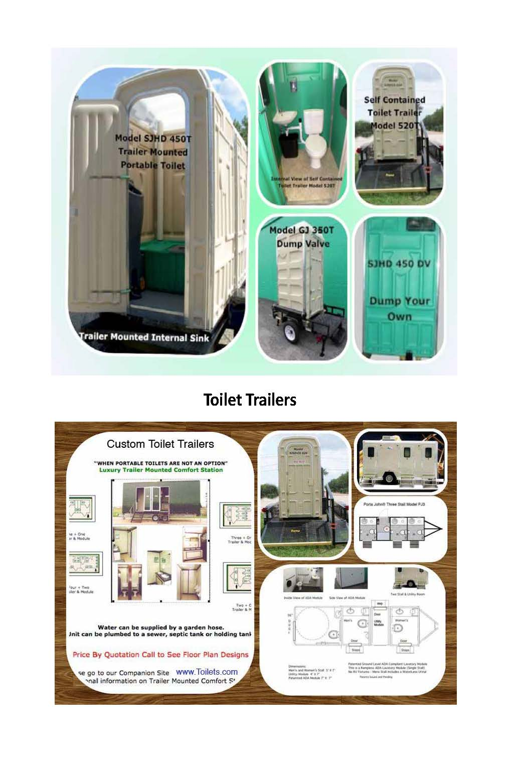 Portable Toilet Trailers