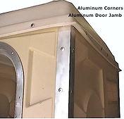 Aluminum, Door Jamb, Portable Toilet, Campground