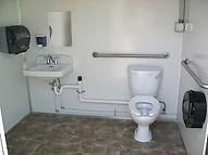 ADA, handicapped, portable lavatory, sex, women's, compliant, lavatory building