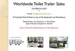 Worldwide Toilet Trailer Sales