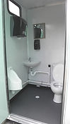 Ceramic Fixtures, Waterless Urinal, 36' Doors, Vinyl Covered Floor,
