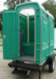 single, dual, portable toilets, interior sink, strong, large, single axle