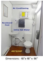 Powder Room, like home, electricity, safety light, vent, exhaust fan, flush toilet, fresh water
