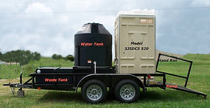 self contained, model, SJSDCS 520, trailer, comfort station, water, tank, waste, hand rail, ramp