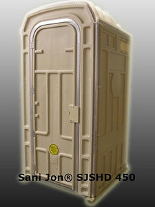 Heavy Duty, Portable Toilet, Larger, Bulky Clothes Users, Aluminum Door Jamb, Double Aluminum Corers, Double Sheet Door